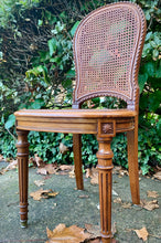 Load image into Gallery viewer, (SOLD) 2 GorgeousVersatile (French and Victorian) Vintage Decorative Cane Chairs with Beautiful Fabric and Excellent Condition!!!