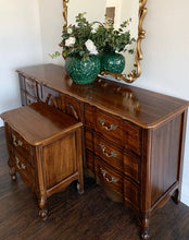 Load image into Gallery viewer, (SOLD) Gorgeous 2PC Vintage French Country Dresser and Nightstand in Superb Condition. Perfect Versatile Pieces for Vintage and Wood Lover!!