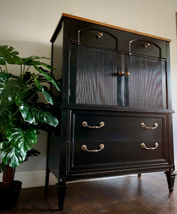 (SOLD) Gorgeous Restoration Hardware inspired BLACK Chest of Drawers/Tallboy/Dresser in Superb Condition!!