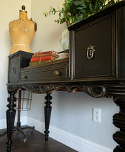 Load image into Gallery viewer, (SOLD) Gorgeous 1930s Victorian Writing Desk with Beautiful Details and Superb Condition!! Perfect Rustic Modernized Piece for Antique-Victorian Lover!!