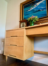 Load image into Gallery viewer, (SOLD) Gorgeous Blonde Danish Mid-Century Desk in Excellent Condition!! Perfect MCM Piece for Minimalist and Wood Lover!!!
