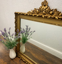 Load image into Gallery viewer, (SOLD) Gorgeous Vintage 1950s French Louis XV Style Decorative Mirror with Beautiful Carving and Superb Condition. Perfect STATEMENT Accent BEAUTY!!!