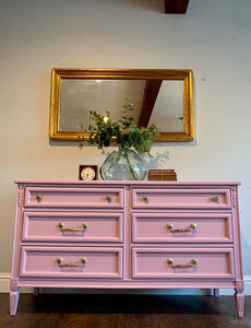 (SOLD) GORGEOUS French Modern 6Drawer Dresser with Beautiful Details, Hardware and Excellent Condition!! Perfect French Statement BEAUTY indeed!!