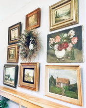 Load image into Gallery viewer, (SOLD) GORGEOUS Collection of Vintage Oil Painting set of 8 for only $30!!