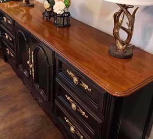 (SOLD) GORGEOUS Vintage Extra Large High-End Drexel Cabernet Dresser/Buffet/Media/Entryway