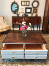 Load image into Gallery viewer, (SOLD) Gorgeous High-End Modern Farmhouse inspired Ethan Allen Large Coffee Table in Excellent Condition. It's a BEAUTY!! 48W 18H 30D