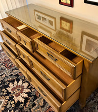 Load image into Gallery viewer, (SOLD) Gorgeous High-End White Fine Furniture Mid-Century Modern Dresser/Media/Entryway/Console/Buffet with Custom Made Glass Top!!!