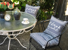 Load image into Gallery viewer, (SOLD) Gorgeous Vintage Outdoor Wrought Iron Patio Set with Beautiful Floral (Rose) Design, Glass Top in Black and White Theme!!