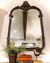 Load image into Gallery viewer, (SOLD) Stunning 1930s Large French-Victorian Decorative Antique Glass Mirror with Gorgeous Details and Excellent Condition!!