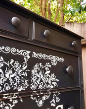 Load image into Gallery viewer, (SOLD) Gorgeous 1940s French Country inspired Chest Of Drawers/Dresser/Entryway/Corner Storage!!! 35W 45H 21D