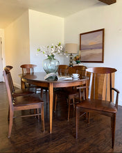 Load image into Gallery viewer, (SOLD) Simply Beautiful Danish Mid Century Modern Dining Table and 10 Chairs with 3 Leaves in Great Condition. Perfect Dining Set for Vintage MCM and Wood Lover!!