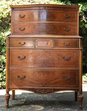 Load image into Gallery viewer, (SOLD) STUNNING 1940s French-Victorian Chest of Drawers /Dresser/Entryway with Gorgeous Details and Hardware!!! 40W 53H 20D