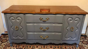 (SOLD) Gorgeous Vintage French Country Buffet/Dresser/Entryway/Media in Excellent Condition!! 59X31X19