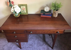 (SOLD) Gorgeous High-End Mid-Century Modern Desk by Willet Furniture!! STUNNING and BARGAIN Beauty!!!