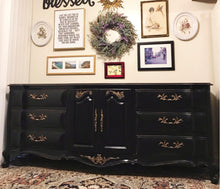 Load image into Gallery viewer, (SOLD) Gorgeous High-End XLarge White Fine French Country Dresser/Credenza/Buffet/Entryway/Media with Beautiful Details and Hardware!!