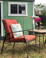 Load image into Gallery viewer, (SOLD) GORGEOUS Pacific Bay Outdoor Matal Patio Chairs (Adjustable Back!) and Marble Top Table. Perfect Outdoor Relaxation Set. They are BEAUTIES!!