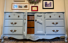 Load image into Gallery viewer, (SOLD) Beautiful and Newly ReDesigned MODERN FRENCH-FARMHOUSE DRESSER in Powder Blue. Perfect All Purpose Beauty!!!