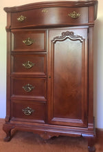 Load image into Gallery viewer, (SOLD!!)! Gorgeous High-End Lexington Victorian Mansion Chest of Drawers/Dresser/Storage/Entryway with Beautiful Details and Hardware!!