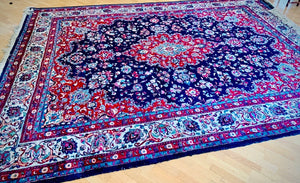 (SOLD) GORGEOUS Vintage XL Handcrafted Accent Rug with Beautiful Color and Design in Great QUALITY Condition!! Perfect Decorative Rug that will give your Living Room Extra BEAUTY and CLASS!!