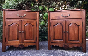(SOLD!) Gorgeous High-End French Country Ethan Allen Nighstands (matching Armoire available!) with Gorgeous Details and Hardware.