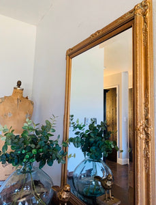 (SOLD) Gorgeous Vintage French Country Decorative Bevelled Mirror with Beautiful Carving/Design and Excellent Condition!!