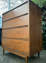 Load image into Gallery viewer, (SOLD) BARGAIN 2PC MID CENTURY MODERN Chest of Drawers and 1 Nightstand. They are Simple BEAUTIFUL and Superb Solid Condition!!