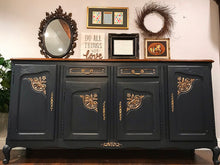 Load image into Gallery viewer, (SOLD) STUNNING Restoration Hardware inspired Vintage French Country Buffet/Media/Dresser/Entryway with Beautiful Details and Hardware!! 78X39X21