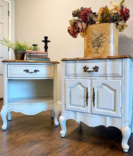 Load image into Gallery viewer, (SOLD) Set of Gorgeous French Country Nighstands/End-Side Tables in Off White. Beautifully ReDesigned and Solid Wood to Last!! BEAUTIES!!