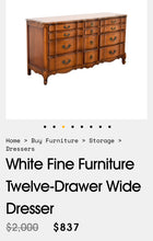 Load image into Gallery viewer, (SOLD) Gorgeous High-End White Fine Furniture French Modern Triple Serpentine Dresser/Media/Entryway/Console/Sofa Table/Buffet in Superb Condition!! Total BEAUTY!!