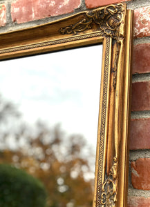 (SOLD) Gorgeous Vintage Large French Country Accent/Decorative Gold Mirror with Beautiful Details and Excellent Condition!!