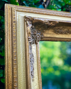 (SOLD) Gorgeous Vintage French Country Decorative/Accent Mirror with Beautiful Details and Bevelled Mirror!! 48X39