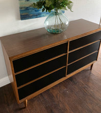 Load image into Gallery viewer, (SOLD) GORGEOUS Black MID CENTURY MODERN Versatile Dresser Lowboy in Superb Condition. Excellent Piece for MCM Lover!!