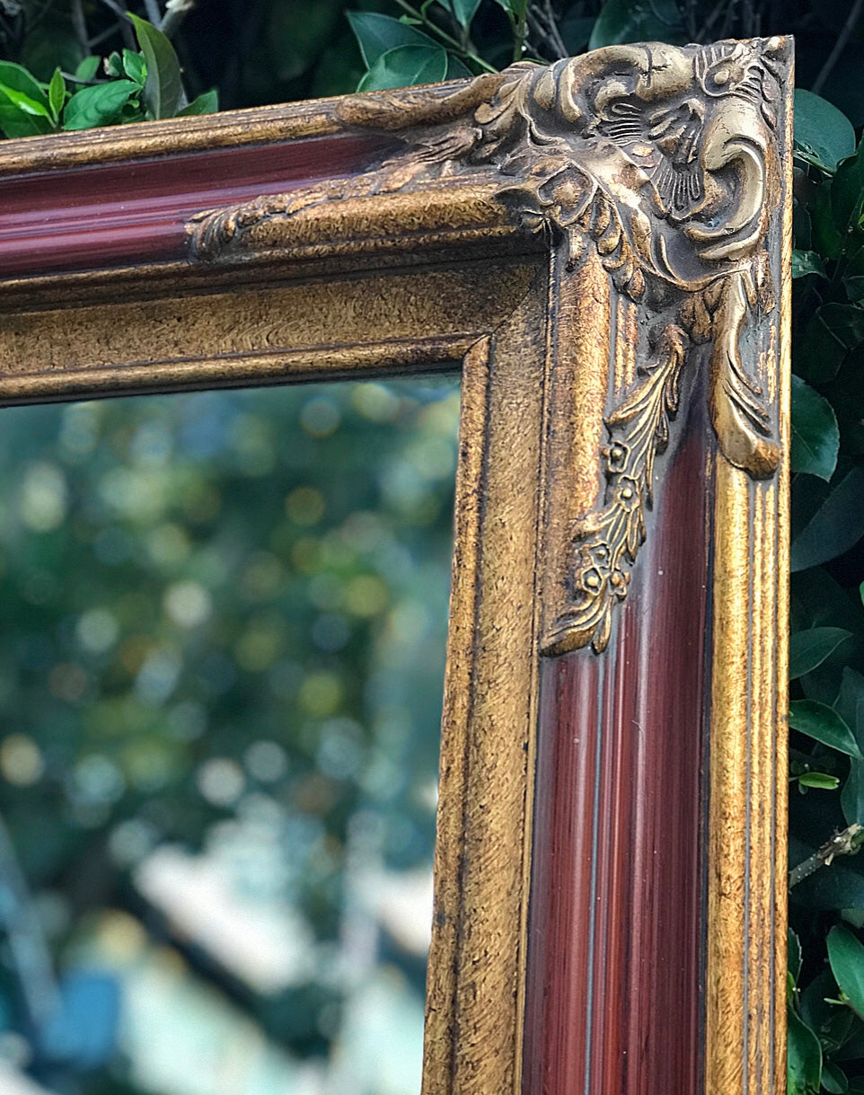 (SOLD) Gorgeous Vintage French Country Decorative/Accent Mirror with Beautiful Handmade Details and Bevelled Mirror!!!
