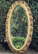 Load image into Gallery viewer, (SOLD) Gorgeous Large Vintage French-Syroco Decorative Mirror with Beautiful Design and Bevelled Glass!! Perfect Vintage Timeless BEAUTY!!