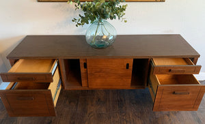 (SOLD) Simply Beautiful Mid Century Modern Danish Credenza/Media/Entryway/Sofa Table/Buffet/Storage Cabinet. Perfect Versatile Piece MCM for Minimalist and Wood Lover!!!