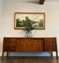 Load image into Gallery viewer, (SOLD) Simply Beautiful Mid Century Modern Entryway/Media/Credenza/Storage/Sofa Table. This is a Must-Have Versatile MCM BEAUTY for Minimalist and Wood Lover indeed!!