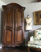 Load image into Gallery viewer, (SOLD) GORGEOUS Vintage French Country Armoire/Storage/Media/Dresser/Entryway with Gorgeous Details and Hardware!! 42X80X21
