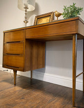 Load image into Gallery viewer, (SOLD) Gorgeous Mid Century Modern Danish Desk with Custom Glass Top in Excellent Condition!!! This Piece is Beautifully Constructed and Solid!!!