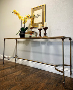 (SOLD) Gorgeous Mid Century Modern Entryway/Console/Bed-End/Sofa Table with Beautiful Design and Great Condition. This Piece is BEAUTY in SIMPLICITY!!