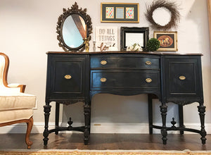 (SOLD) GORGEOUS 1940s Restoration Hardware Inspired Jacobean Buffet/Credenza/Entryway/Dresser/Media 66L 39H 21D
