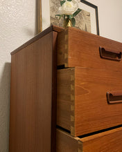 Load image into Gallery viewer, (SOLD) Gorgeous Danish Mid Century Modern Teak Highboy-Chest in Superb Condition!! Beautiful Piece any room in your Nest!!