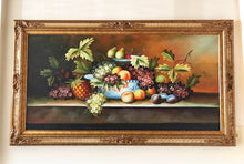 Load image into Gallery viewer, (SOLD) Gorgeous Vintage Oil Fruit Painting in Stunning French Wood Frame and Excellent Condition!! 52X32