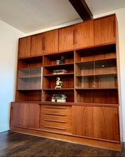 Load image into Gallery viewer, (SOLD) Simply Beautiful 3PC XL Danish Mid Century Modern Teak Credenza Wall Unit in Superb Condition!! Perfect Statement BEAUTY indeed!!