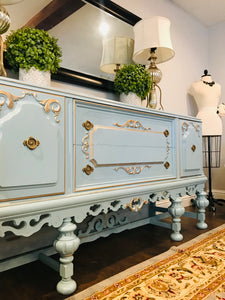(SOLD) Gorgeous 1920s Jacobean Buffet with Beautiful Details and Great Condition!! 68X38X21