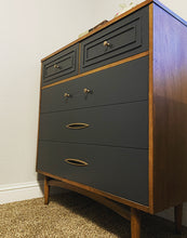 Load image into Gallery viewer, (SOLD) BEAUTY in SIMPLICITY! Newly ReDesigned GRAY 5Drawer DANISH MID CENTURY MODERN Chest is just Perfect! Ideal Piece for MCM and Wood Lover!!