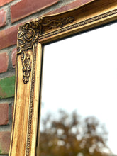 Load image into Gallery viewer, (SOLD) Gorgeous Vintage Large French Country Accent/Decorative Gold Mirror with Beautiful Details and Excellent Condition!!