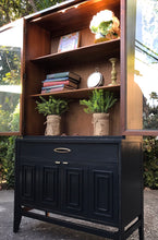 Load image into Gallery viewer, (SOLD) Gorgeous Newly ReDesigned Restoration Hardware inspired Mid-Century Modern Hutch/China/Bookcase/Display/Bathroom Cabinet with Beautiful Design!! 68X36X15