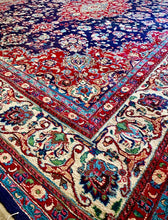 Load image into Gallery viewer, (SOLD) GORGEOUS Vintage XL Handcrafted Accent Rug with Beautiful Color and Design in Great QUALITY Condition!! Perfect Decorative Rug that will give your Living Room Extra BEAUTY and CLASS!!