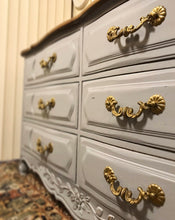 Load image into Gallery viewer, (SOLD) Gorgeous Vintage High-End Thomasville French Country Dresser and 2 Nightstands in Excellent Condition. Perfect Versatile Pieces!!