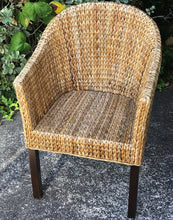 Load image into Gallery viewer, (SOLD) Gorgeous Set of 2 Versatile Heavy Duty Rattan Accent Chairs with Armrest. These Wicker chairs are perfect Organic/Country pieces!!